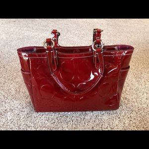 Stunning patent leather coach bag/purse